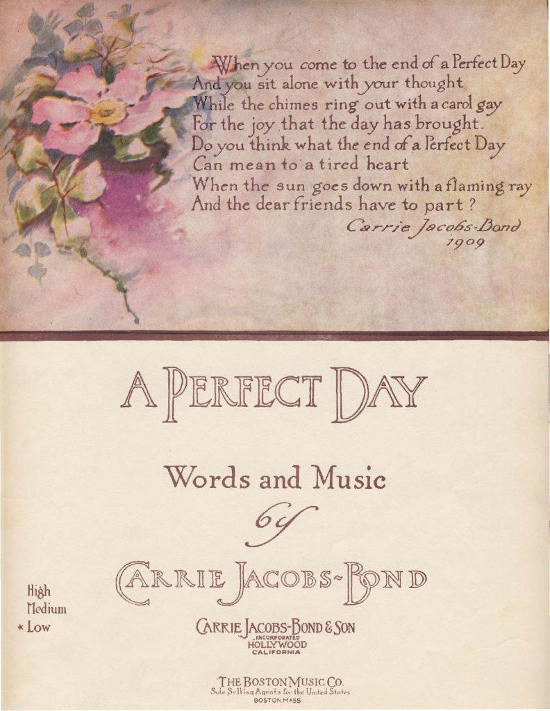 Perfect Day postcard